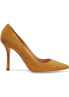 Sergio Rossi Woman Secret Suede Pumps Camel