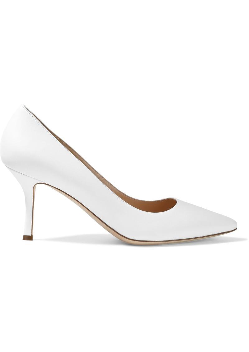 Sergio Rossi Woman Secret Textured-leather Pumps White