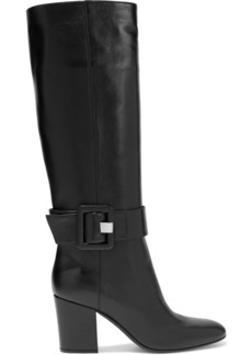 Sergio Rossi Woman Sr Mia 75 Buckled Leather Knee Boots Black