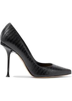 Sergio Rossi Woman Sr Milano Embossed Leather Pumps Black