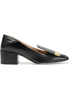 Sergio Rossi Woman Sr1 Leather Collapsible-heel Pumps Black