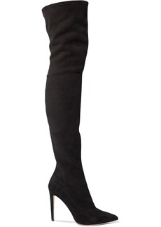 Sergio Rossi Woman Stretch-suede Thigh Boots Black