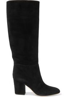 Sergio Rossi Woman Suede Knee Boots Black
