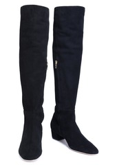Sergio Rossi Woman Suede Over-the-knee Boots Black