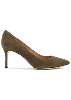 Sergio Rossi Woman Suede Pumps Army Green