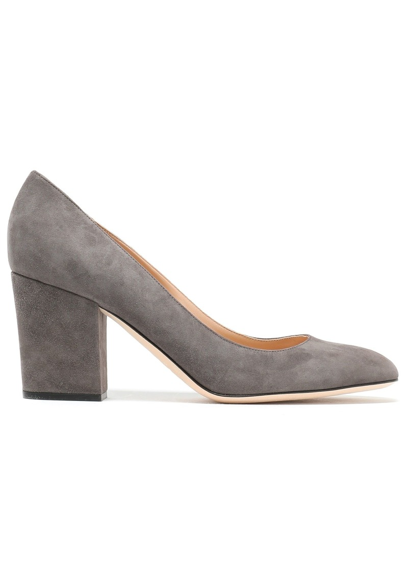 Sergio Rossi Woman Suede Pumps Gray
