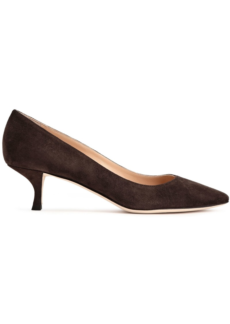 Sergio Rossi Woman Suede Pumps Chocolate