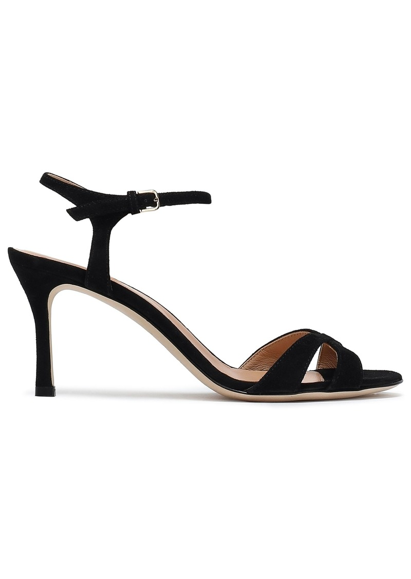 Sergio Rossi Woman Suede Sandals Black