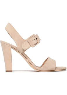 Sergio Rossi Woman Suede Slingback Sandals Beige