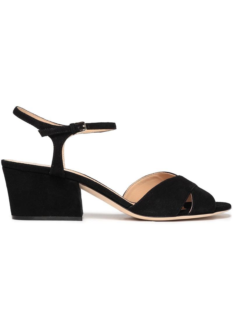 Sergio Rossi Woman Vernice Suede Sandals Black