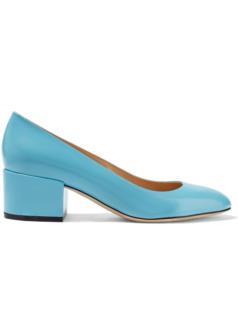Sergio Rossi Woman Virginia Glossed-leather Pumps Turquoise