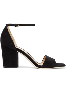 Sergio Rossi Woman Virginia Suede Sandals Black