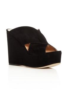 Sergio Rossi Women's Alma Suede Platform Wedge Sandals