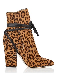 Sergio Rossi Women's Calf Hair Ankle-Tie Booties