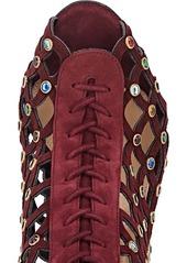 Sergio Rossi Women's Crystal-Embellished Suede Booties
