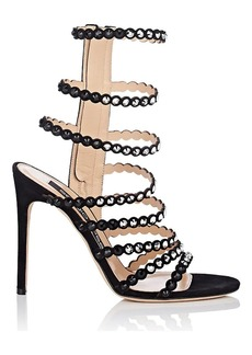 Sergio Rossi Women's Dégradé-Crystal-Embellished Suede Multi-Strap Sandals