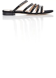 Sergio Rossi Women's Dégradé-Crystal-Embellished Suede Sandals