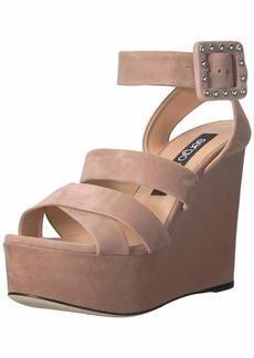 Sergio Rossi Women's Elettra Wedge Sandal  40 Medium EU (366 US)
