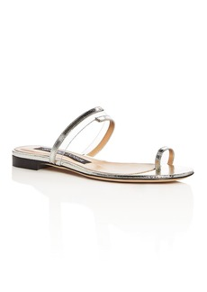 Sergio Rossi Women's Karen Leather Toe Strap Sandals
