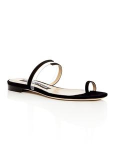 Sergio Rossi Women's Karen Suede Slide Sandals