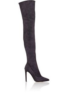 Sergio Rossi Women's Matrix Suede Over-The-Knee Boots