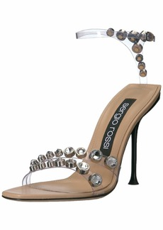 Sergio Rossi Women's PVC Jewel Sandal Heeled  3 Medium EU ( US)