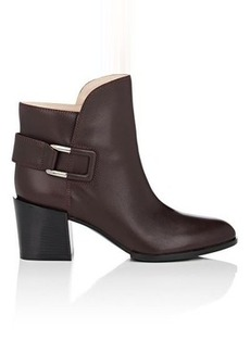 Sergio Rossi Women's Saddle Leather Ankle Booties