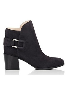 Sergio Rossi Women's Saddle Suede Ankle Booties