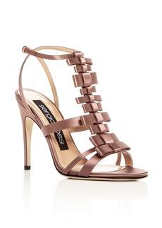 Sergio Rossi Women's Satin Bow T-Strap High-Heel Sandals