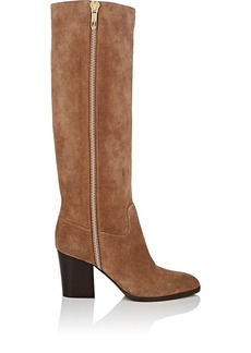 Sergio Rossi Women's Side-Zip Suede Knee Boots