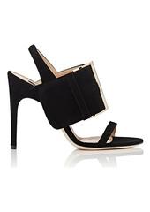 Sergio Rossi Women's SR Buckle Suede Slingback Sandals