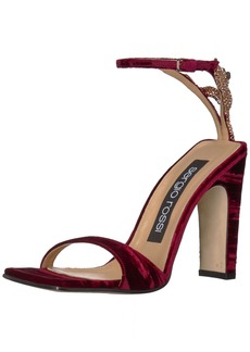 Sergio Rossi Women's SR1 Heeled Sandal Ruby 39 Medium EU (366 US)