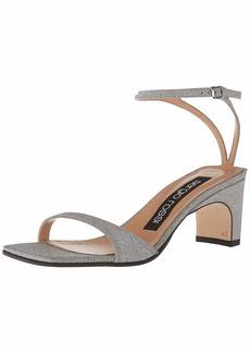 Sergio Rossi Women's SR1 Sandal argento 40 Medium EU (366 US)