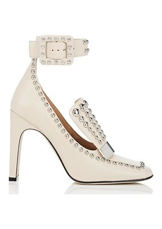 Sergio Rossi Women's SR1 Studded Ankle-Strap Pumps