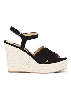 Sergio Rossi Women's Suede Platform Espadrille Sandals