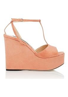8e1899d3d60f Sergio Rossi Women s Suede Platform-Wedge Sandals