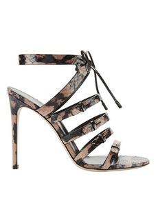 Sergio Rossi Zoe Elaphe Strappy High Heel Sandals