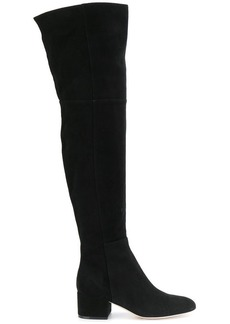 Sergio Rossi side zip knee boots