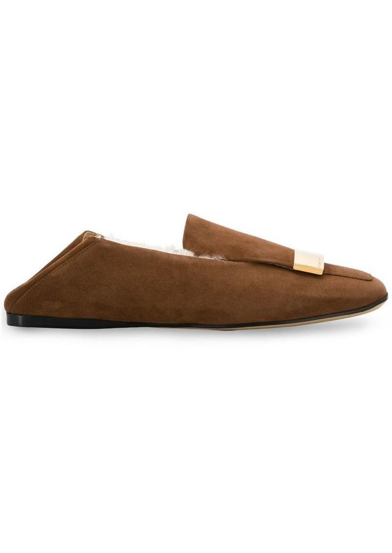 Sergio Rossi square toe ballerina shoes