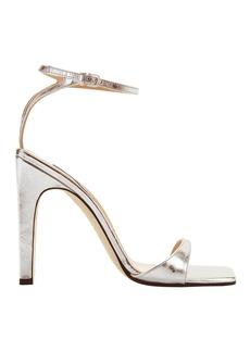 Sergio Rossi sr1 Silver Laminated Leather Sandals