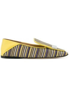 Sergio Rossi sr1 striped slippers