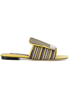 Sergio Rossi striped sr1 sandals