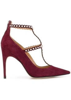 Sergio Rossi studded pointed toe pumps