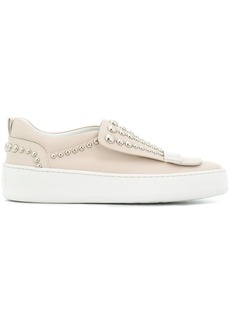 Sergio Rossi studded slip-on sneakers