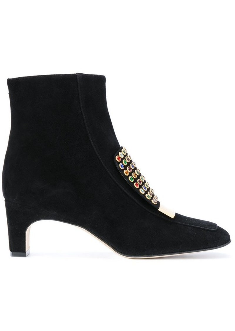 Sergio Rossi studded trim boots