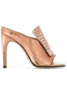 Sergio Rossi studded trim sandals