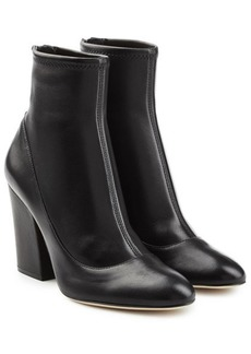Sergio Rossi Virgina Leather Ankle Boots