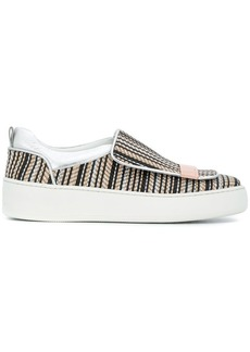Sergio Rossi woven slip-on sneakers