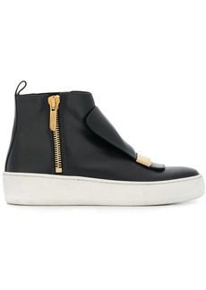 Sergio Rossi zipped hi-top sneakers