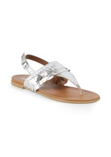 Seychelles Heavy Hitter Metallic Leather Slingback Sandals